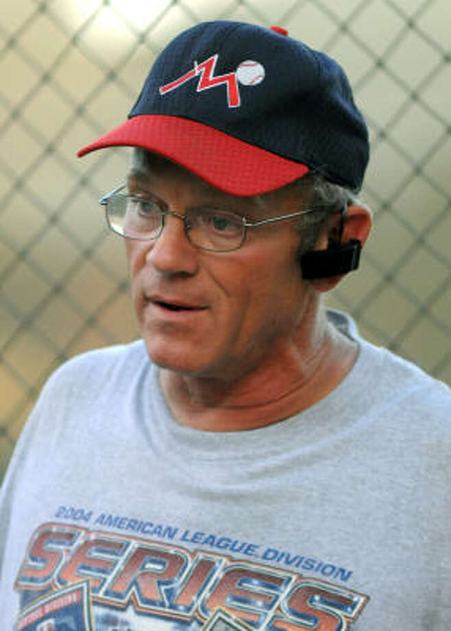 Former major league pitcher David Clyde is the baseball coach for the  Houston Miracles, a summer league baseball team for players 18 and under. The Miracles are playing this week in the Connie Mack World Series in Farmington, N.M. As a senior in 1973 at Westchester High School, Clyde was 18-0, allowing only three earned runs in 148 innings and was the first player picked in the 1973 major league baseball draft. Photo: Jerry Baker, For The Chronicle