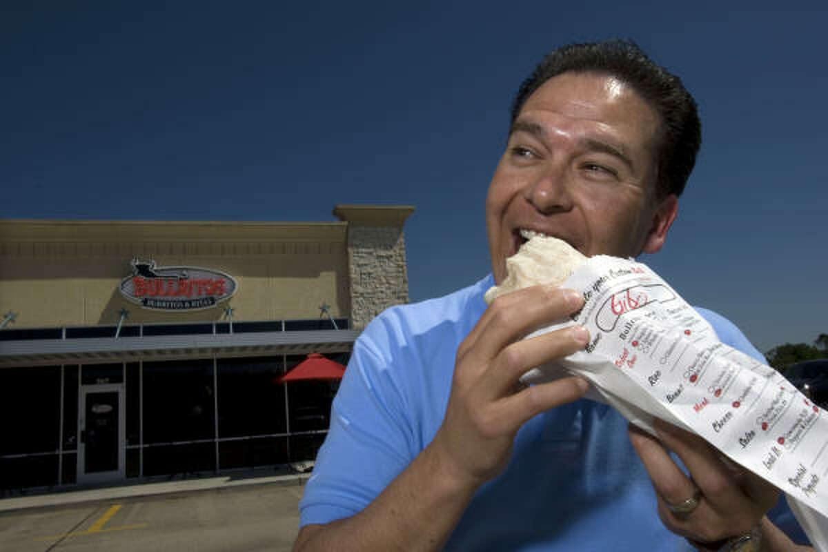 Russell Ybarra opened Bullritos in La Porte in September. Burrito chains are growing in popularity because the food is affordable and made to order, he said.