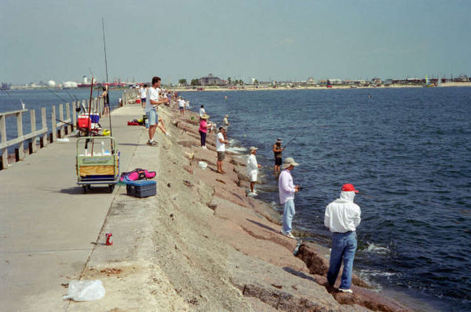 The jetty at Surfside was on of many places anglers found good fishing at this week. Photo: Doug Pike, Houston Chronicle