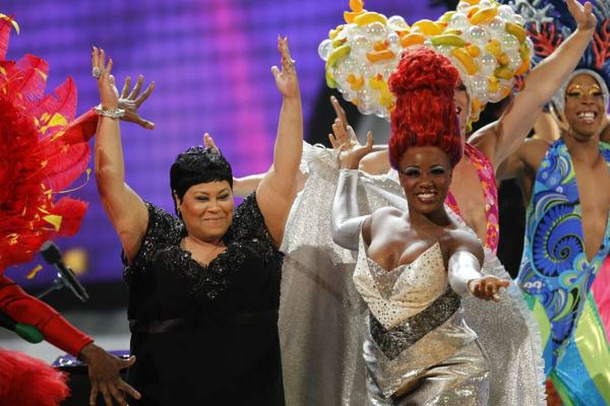 Martha Wash, left, and the cast of Priscilla Queen of the Desert entertain the Tony crowd.