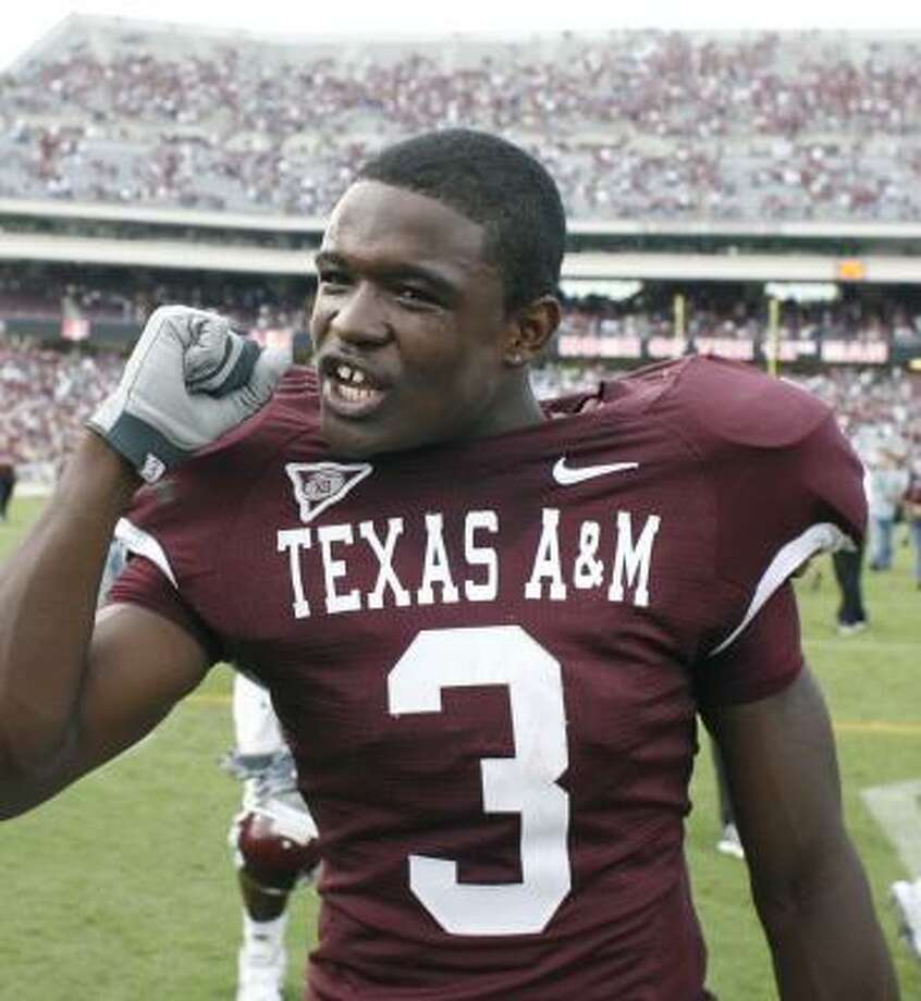 Mike Goodson (3) will pair with Jorvorskie Lane in to carry the load for the Aggies. Photo: Billy Smith II, CHRONICLE