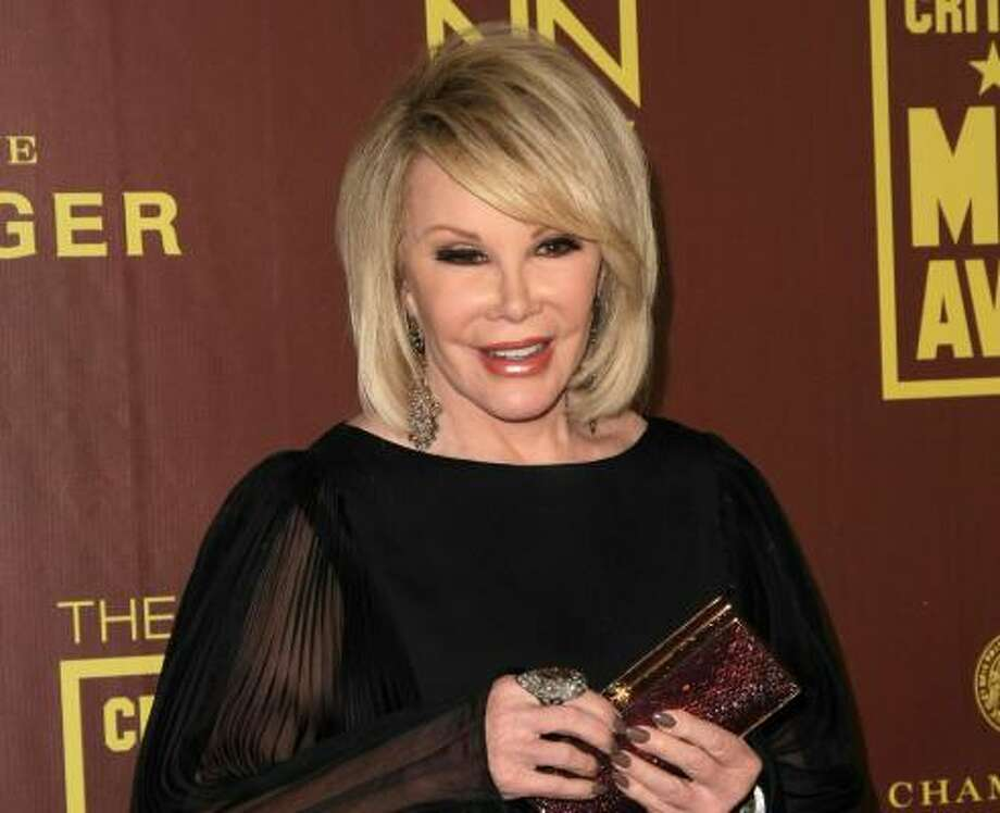 Joan Rivers, 78 Photo: Neilson Barnard, Getty Images