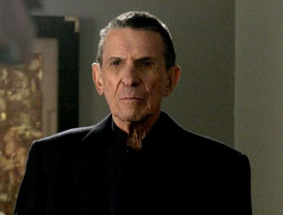 "Yep, Nimoy's back. This time with a heart-stopping version of ""Put a Little Love in Your Heart."" Photo: AP"