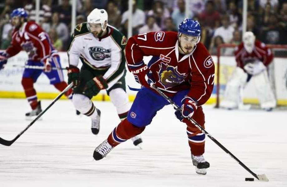 Hamilton's Dustin Boyd heads down the ice. Photo: Eric Kayne, For The Chronicle