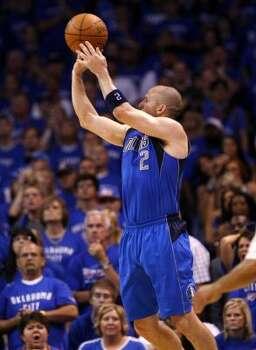 Mavericks guard Jason Kidd made three 3-pointers in the victory. Photo: Sue Ogrocki, Associated Press