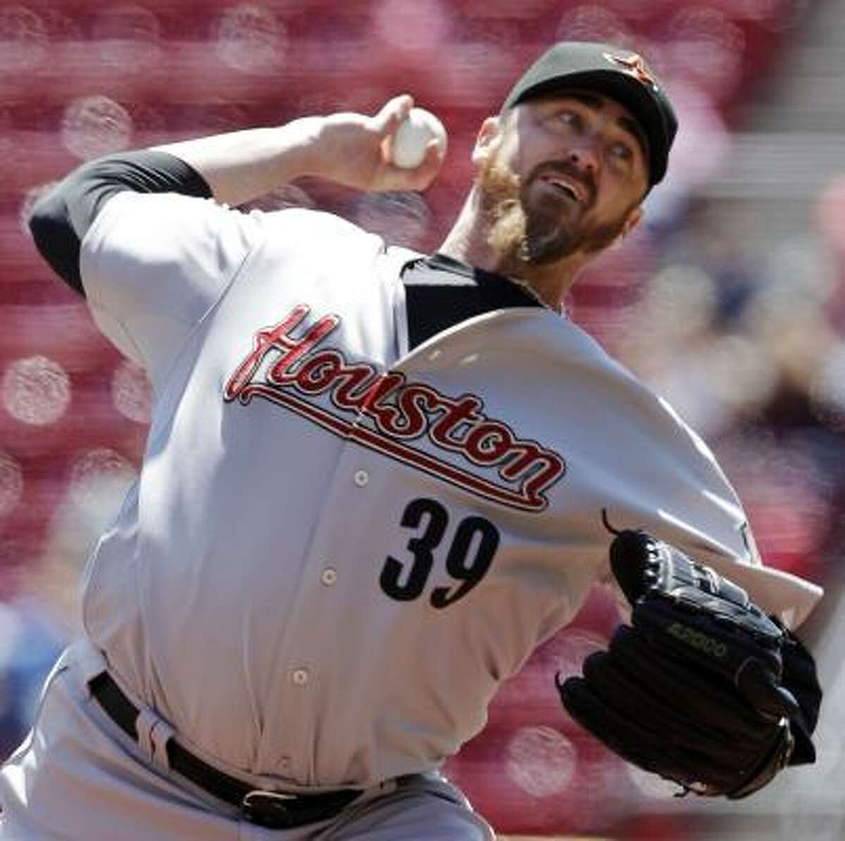 Astros starting pitcher Brett Myers didn't have his bestouting, giving up nine hits and six runs in 5 2/3 innings.