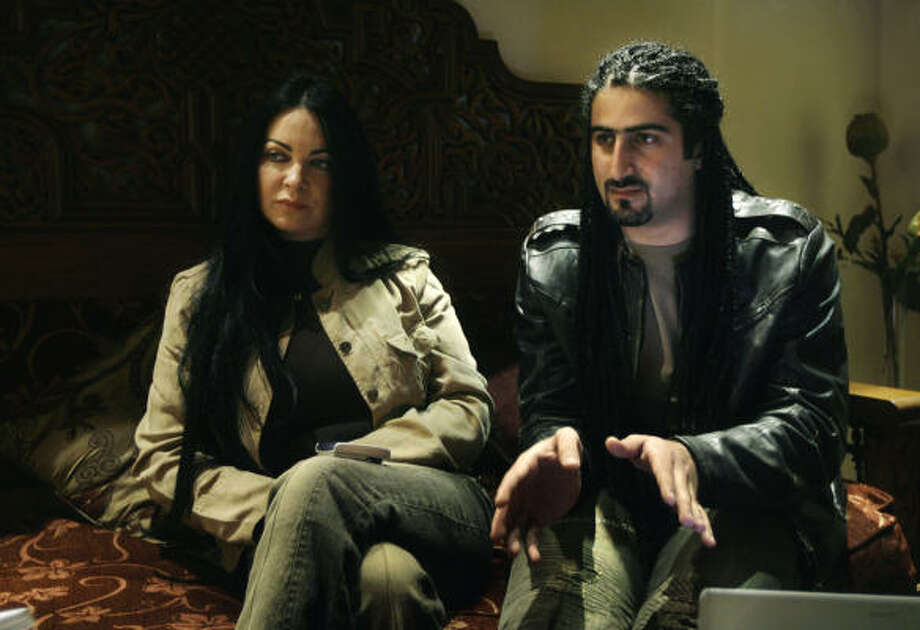 "Omar Osama bin Laden, right, and his British-born wife Jane Felix-Brown, now known as Zaina Alsabah sought asylum, though he did not renounce his father. He has said he wants to be an ""ambassador for peace"" between Muslims and the West. Photo: Nasser Nasser, ASSOCIATED PRESS"