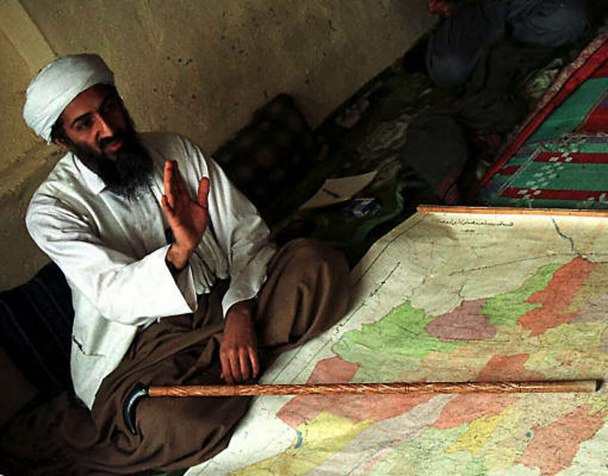 The exiled Saudi dissident, shown in Afghanistan in 1998, led the al-Qaida terror network to fight the infidels, mainly the U.S., Britain and Israel.