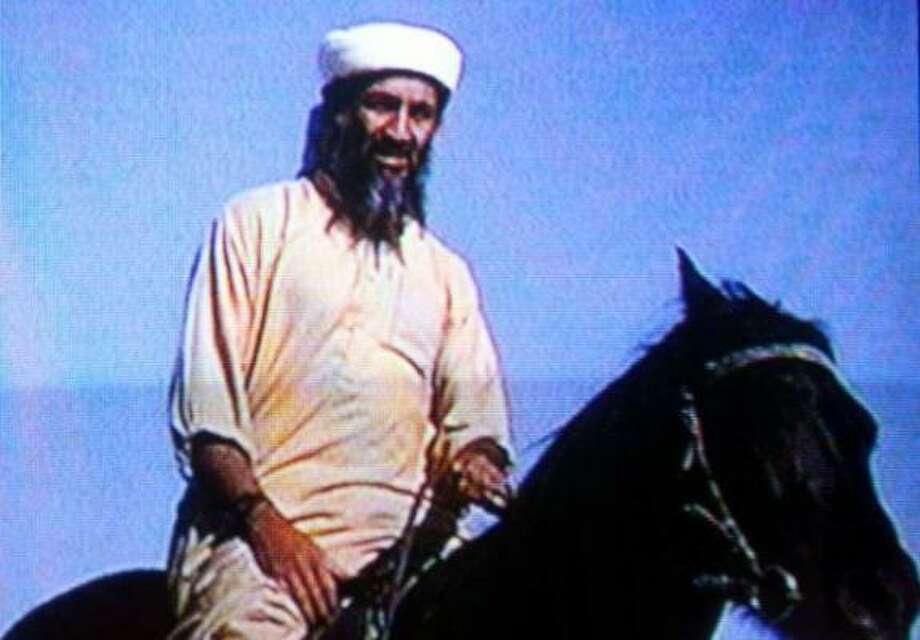 Suspected terrorist Osama bin Laden is seen in this undated photo taken from a television image. Photo: Getty Images