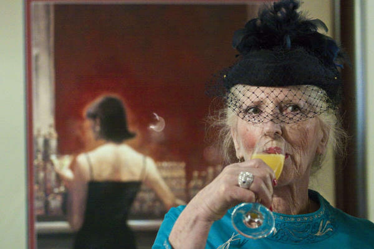 Isabelle Norman enjoys a mimosa.