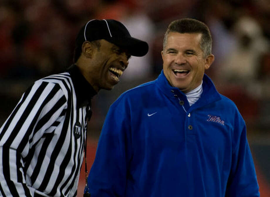 Todd Graham / Rice football to Tulsa.  Left after one year as head coach, returned Nov. 24, 2007. Stats : Tulsa won 48-43.Reception : A resounding performance from the Marching Owl Band depicting a search for Graham in Dante's circles of Hell.Reaction : An official complaint from Tulsa's administration to Conference USA. Photo: Smiley N. Pool, Chronicle