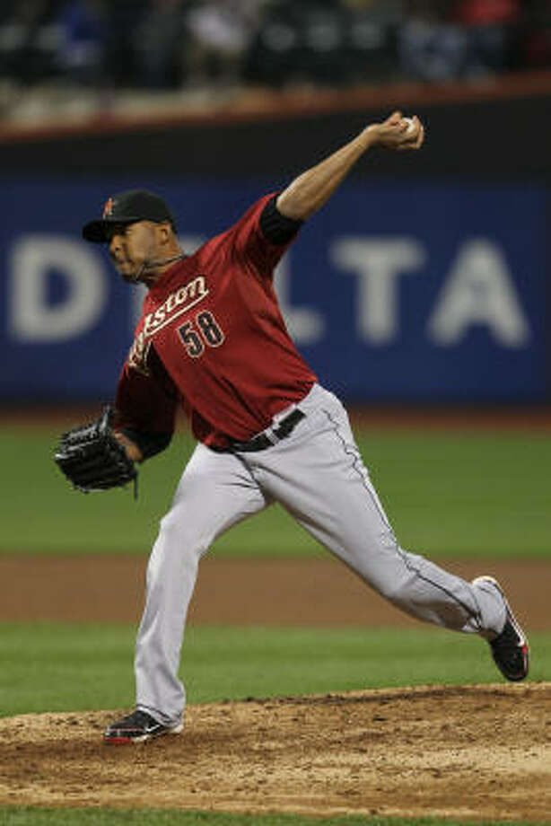 Astros reliever Fernando Abad delivers a pitch. Photo: Nick Laham, Getty Images