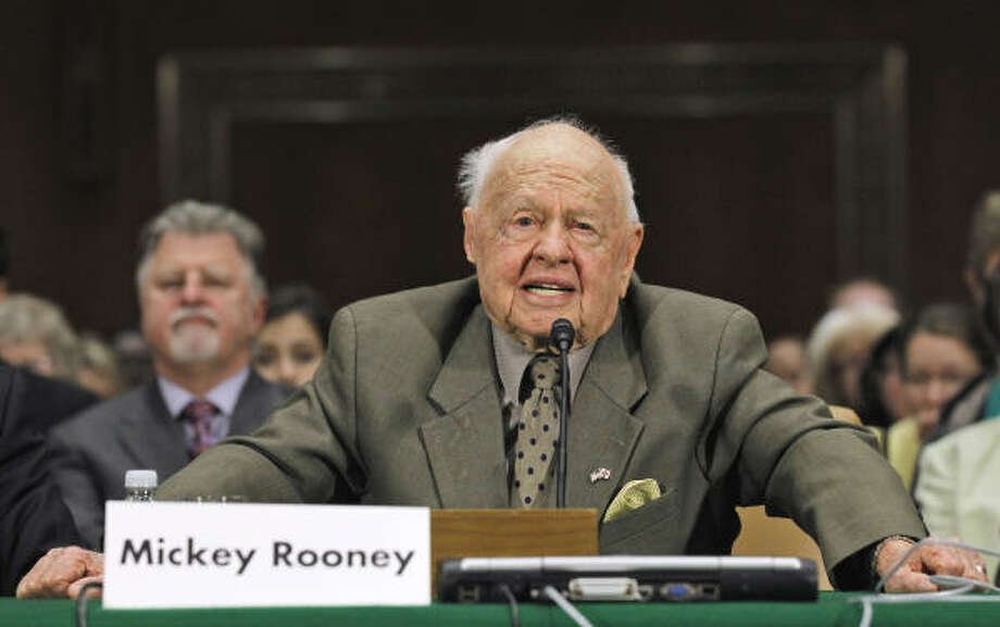 Mickey Rooney, 2011, age 90.