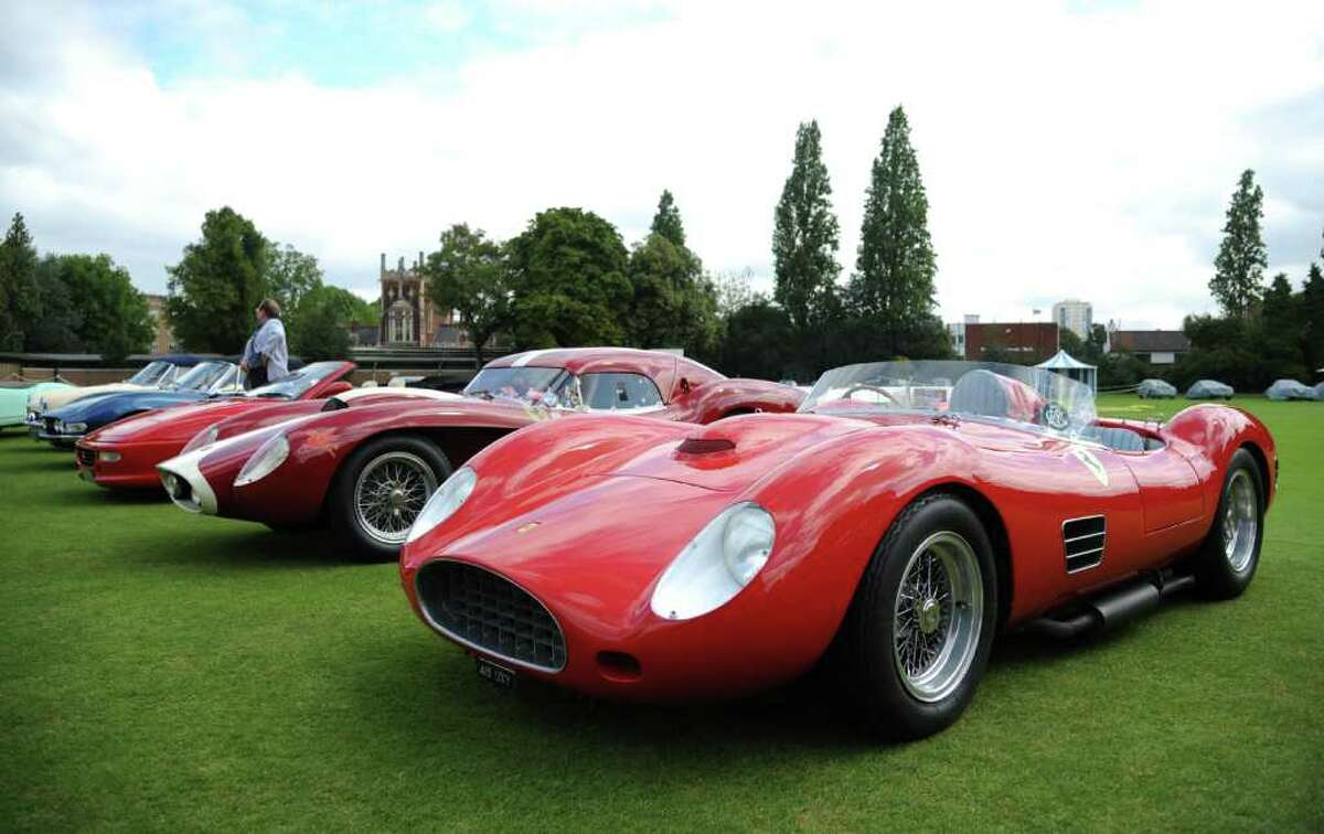 Supercars are lined up at Concours D'Elegance at The Hurlingham Club on July 27, 2011 in London, England.