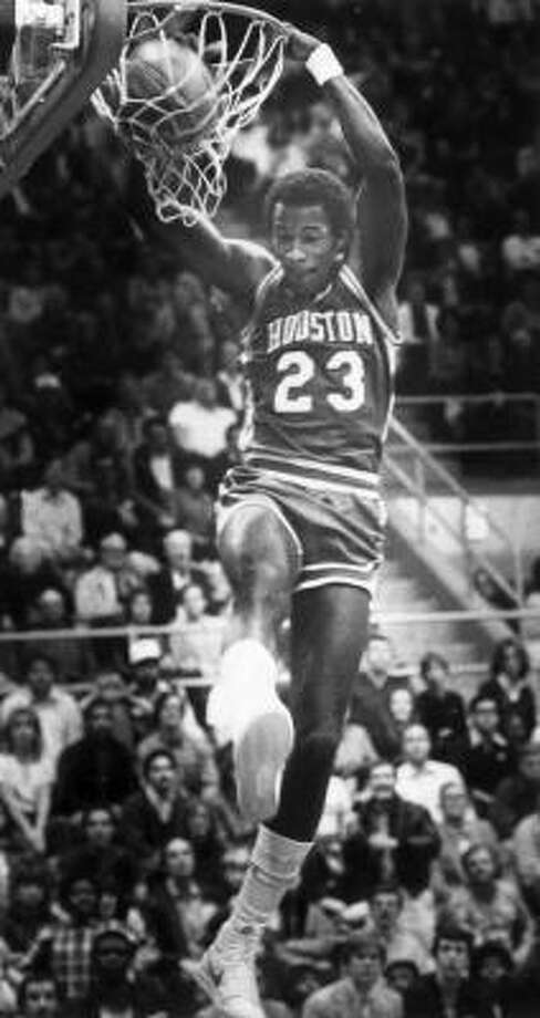 Clyde Drexler Drexler, who attended Houston's Sterling High School, averaged 14.4 points and 2.8 steals per game while playing for the Cougars from 1980-83. He was drafted by the Portland Trail Blazers with the 14th overall pick in the 1983 draft and put together a Hall of Fame career. He also won an NBA championship with the Rockets in 1995. Photo: Chronicle File Photo