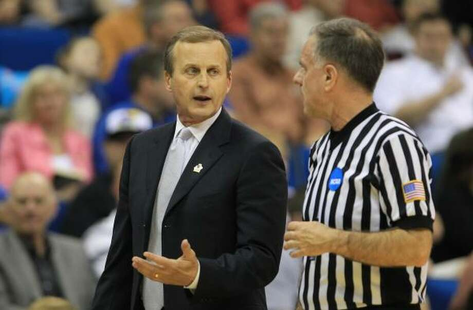 4. Oh, Rick Barnes. Not again. Photo: Nick De La Torre, Chronicle