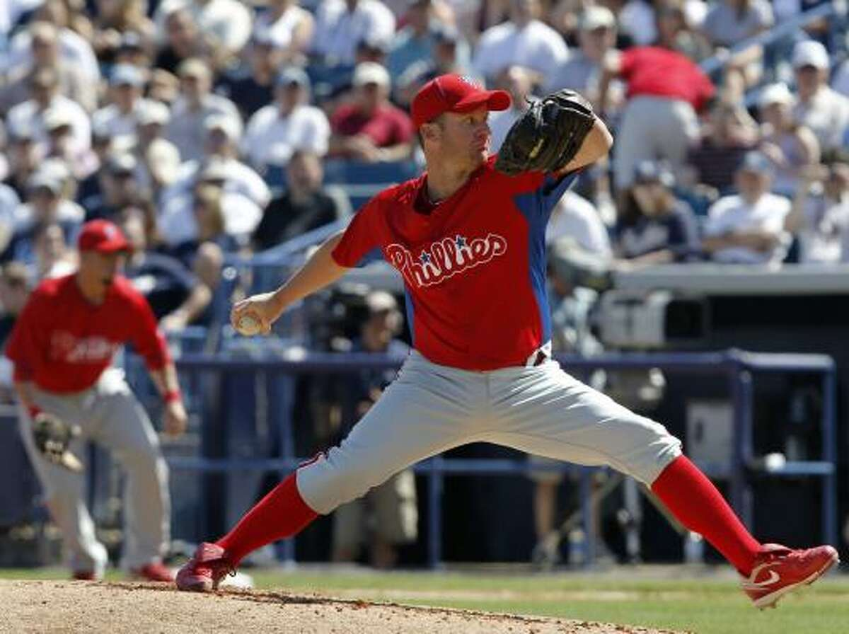 April 1-3 at Philadelphia The Astros will be the first to face the Murder's Row of Phillies pitchers, with Roy Halladay, Cliff Lee and Roy Oswalt (pictured) on the slate.