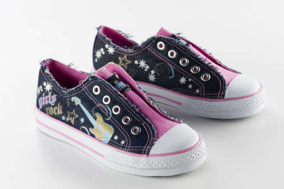 "Hannah Montana ""Girls Rock"" slip-on sneakers, $19.99, Payless Photo: Buster Dean, Chronicle"