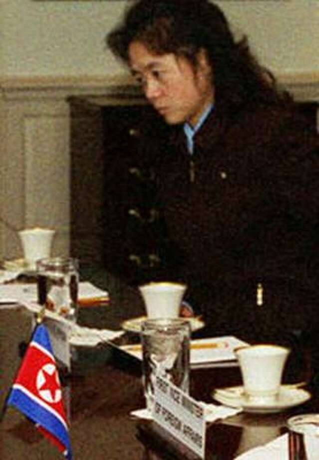 Not much is known about Kim Ok, seen in this 2000 photo. Intelligence groups say the pianist and former secretary has served with Korean leader Kim Jong Il since the 1980s. Photo: ASSOCIATED PRESS/DEPARTMENT OF DEFENSE