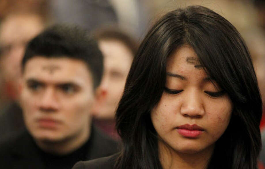 Ash Wednesday is observed by Roman Catholics, Episcopalians and some Protestant Christians. Photo: Julio Cortez, AP