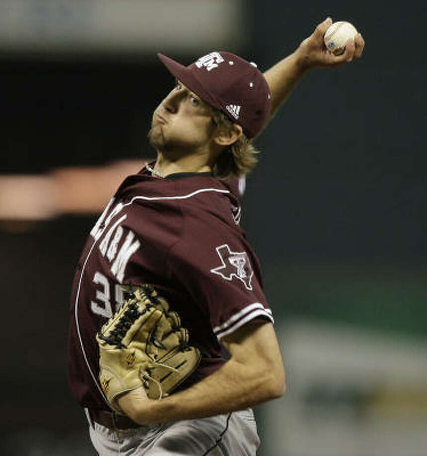 Texas A&M's Michael Wacha held Rice to one run on five hits in seven innings. Photo: Bob Levey, For The Chronicle