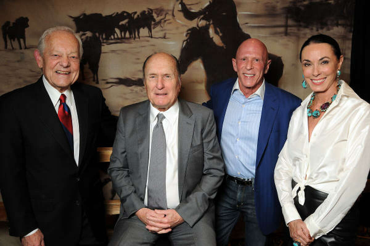 Bob Schieffer and Robert Duvall with Lester and Sue Smith, chairs of