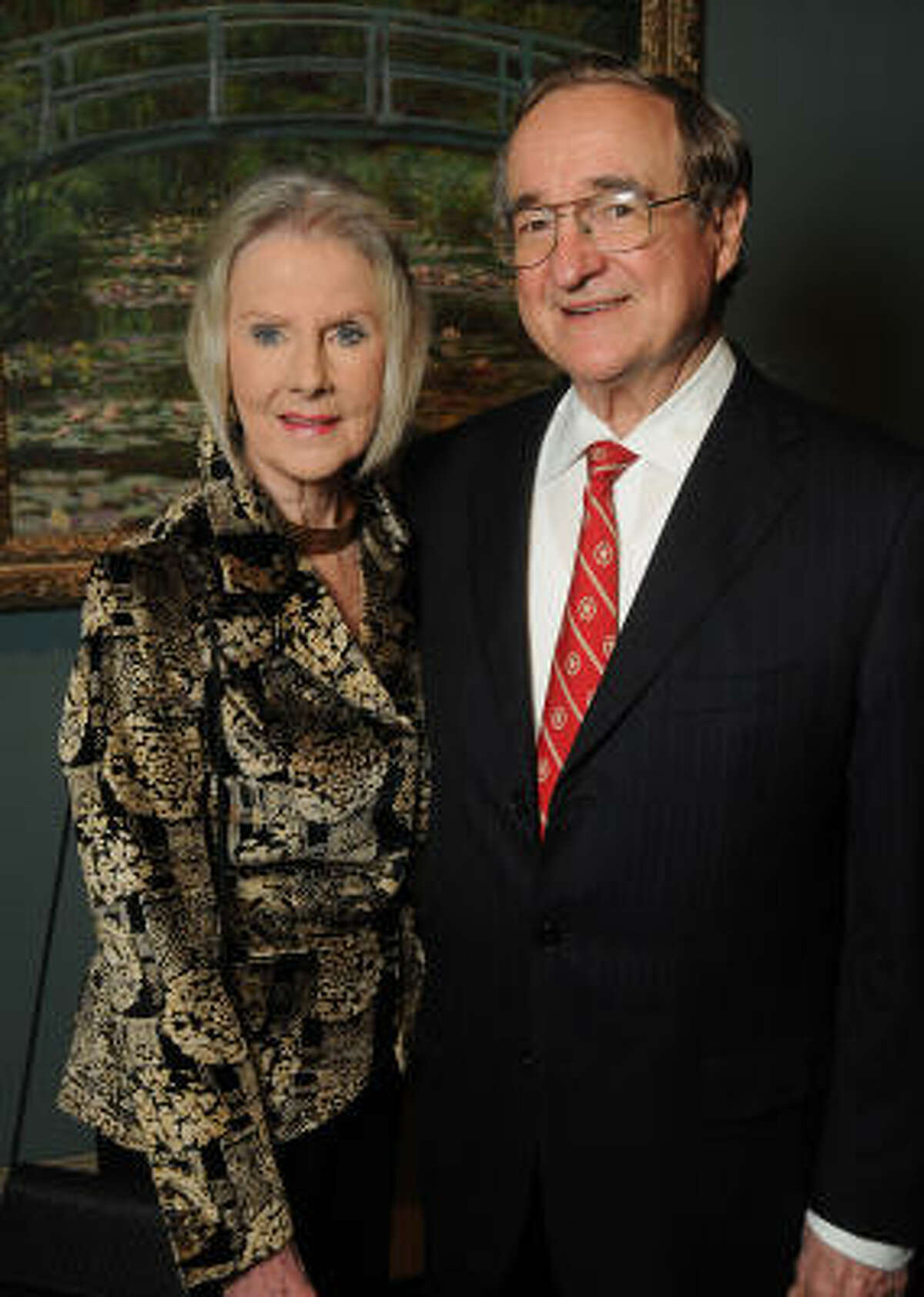 Macey and Henry Reasoner at the patrons dinner celebrating the exhibition Impressionist and Post-Impressionist Masterpieces from the National Gallery of Art at the Museum of Fine Arts Houston Wednesday Feb. 16,2011.