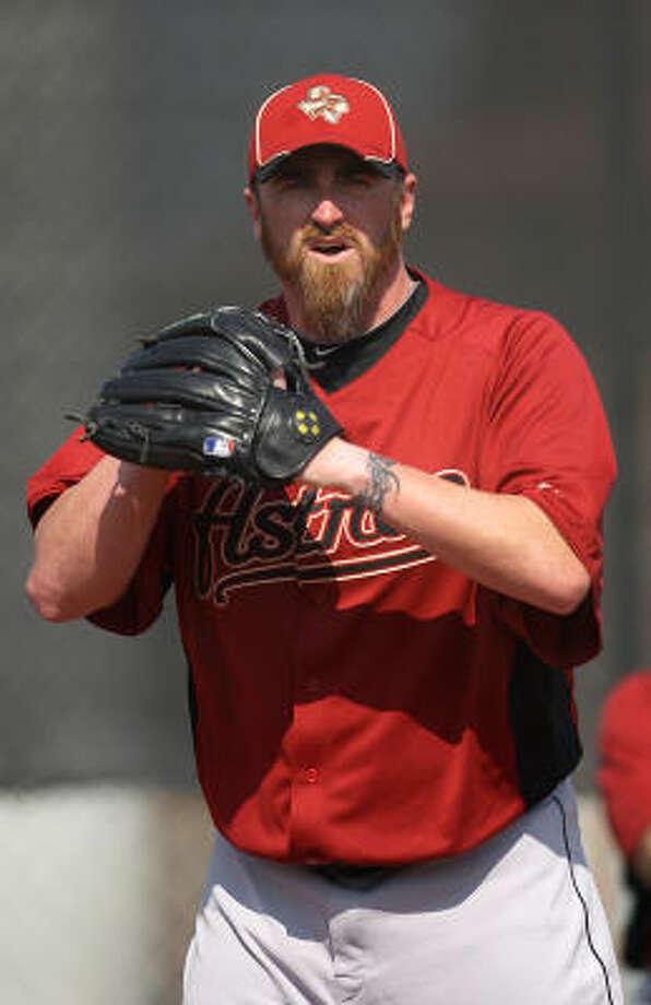 Astros righthander Brett Myers works out of the windup. Photo: Karen Warren, Chronicle
