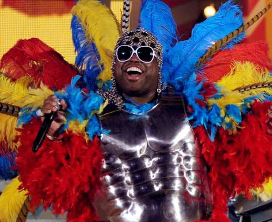 Singer Cee Lo Green performs onstage during The 53rd Annual GRAMMY Awards. Photo: Kevin Winter, Getty Images