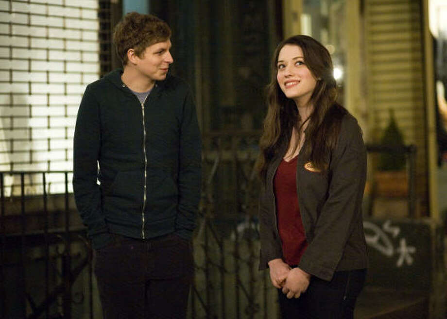 Nick (Michael Cera) and Norah (Kat Dennings) star in Columbia Pictures and Mandate Pictures' comedy Nick & Norah's Infinite Playlist. Photo: K.C. Bailey, Sony Pictures