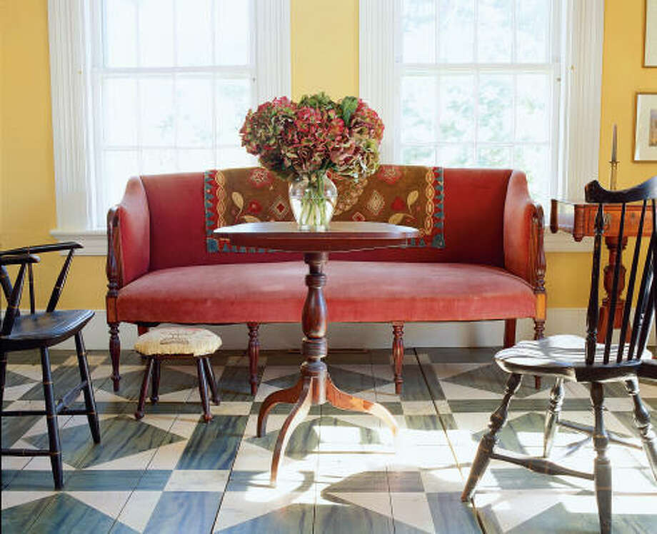 COLORFUL STEPPING: Tired of your floors? Paint them. Photo: Sterling Publishing