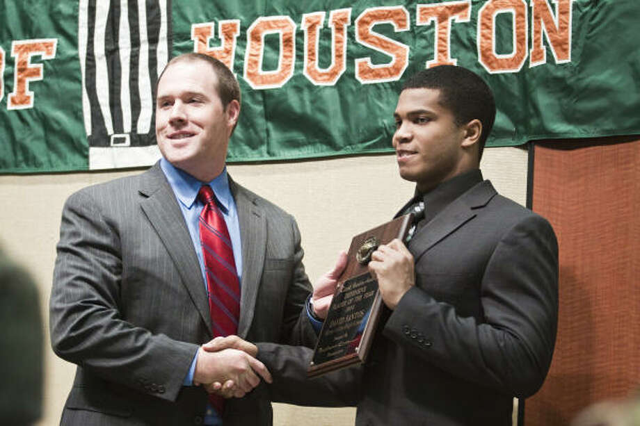 David Santos (right), LB, Klein Collins Height: 6-0 Weight: 210 Destination: Nebraska Photo: Eric Kayne, For The Chronicle