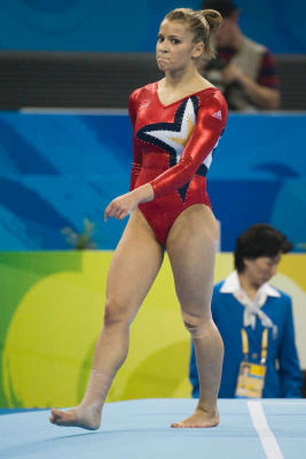 Gymnast Alicia Sacramone is working for a clothing company and trying to break into television. Photo: Smiley N. Pool, Chronicle