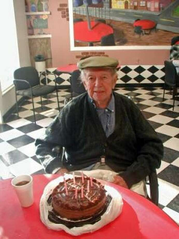 Charlie DeMangin celebrated his 87th birthday at Memorial Oaks in Houston. Photo: Courtesy, DeMangin Family