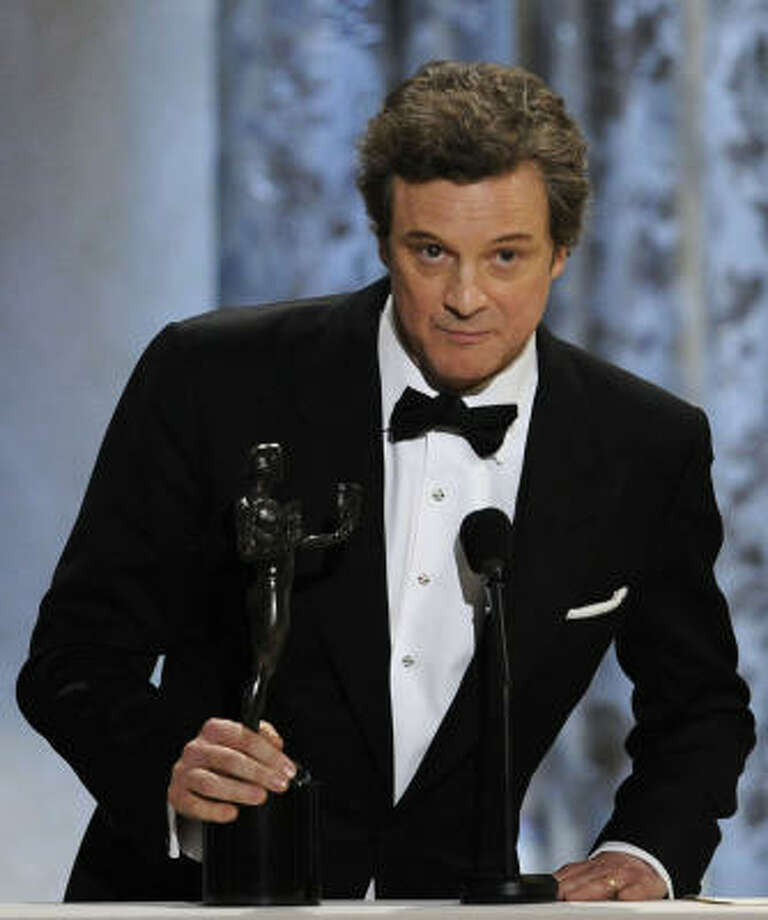 "Colin Firth: winner best male actor in a leading role for ""The King's Speech"" Photo: Mark J. Terrill, AP"