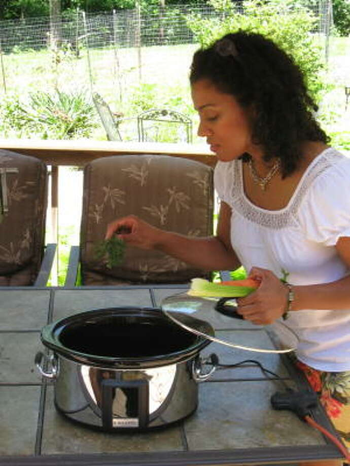 TAKE IT OUTSIDE: Using countertop cooking appliances outdoors during summer saves electricity by reducing the cooling load on your central air conditioner.