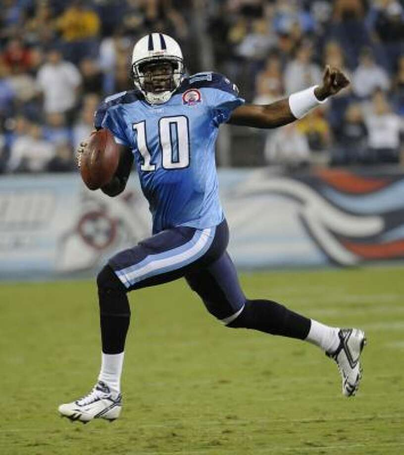 Dating back to last season when they finished with an NFL-best 13-3 record, the Titans have lost seven of eight, including five in a row. The recent skid has led fans to beg the Titans to start Vince Young over Kerry Collins. Photo: John Russell, AP