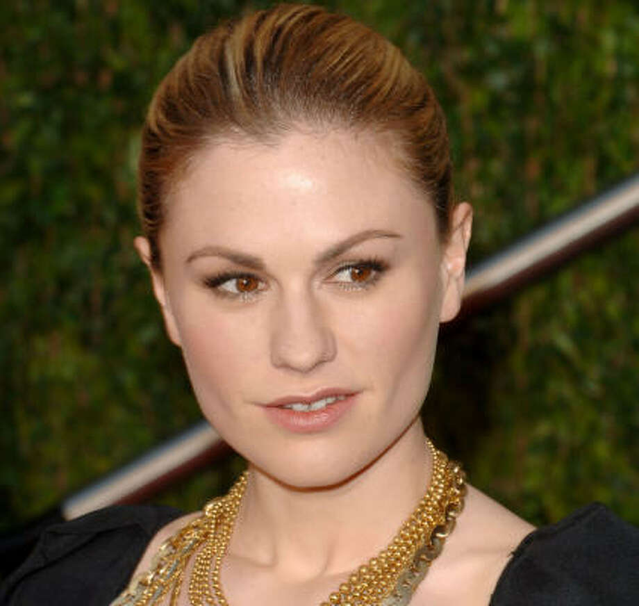 "'Out' gay celebritiesKeep clicking to learn more about this Oscar winner and others.Anna Paquin: In an ad campaign for Cyndi Lauper's True Colors Fund, which fights for the rights of the GLBT community, Paquin declares, ""I'm Anna Paquin. I'm bisexual, and I give a d*mn."" Photo: Craig Barritt, Getty Images"