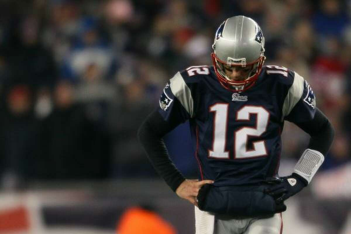 Jan. 16: Jets 28, Patriots 21 Patriots quarterback Tom Brady threw for 299 yards, two touchdowns and one interception during the loss to the Jets.