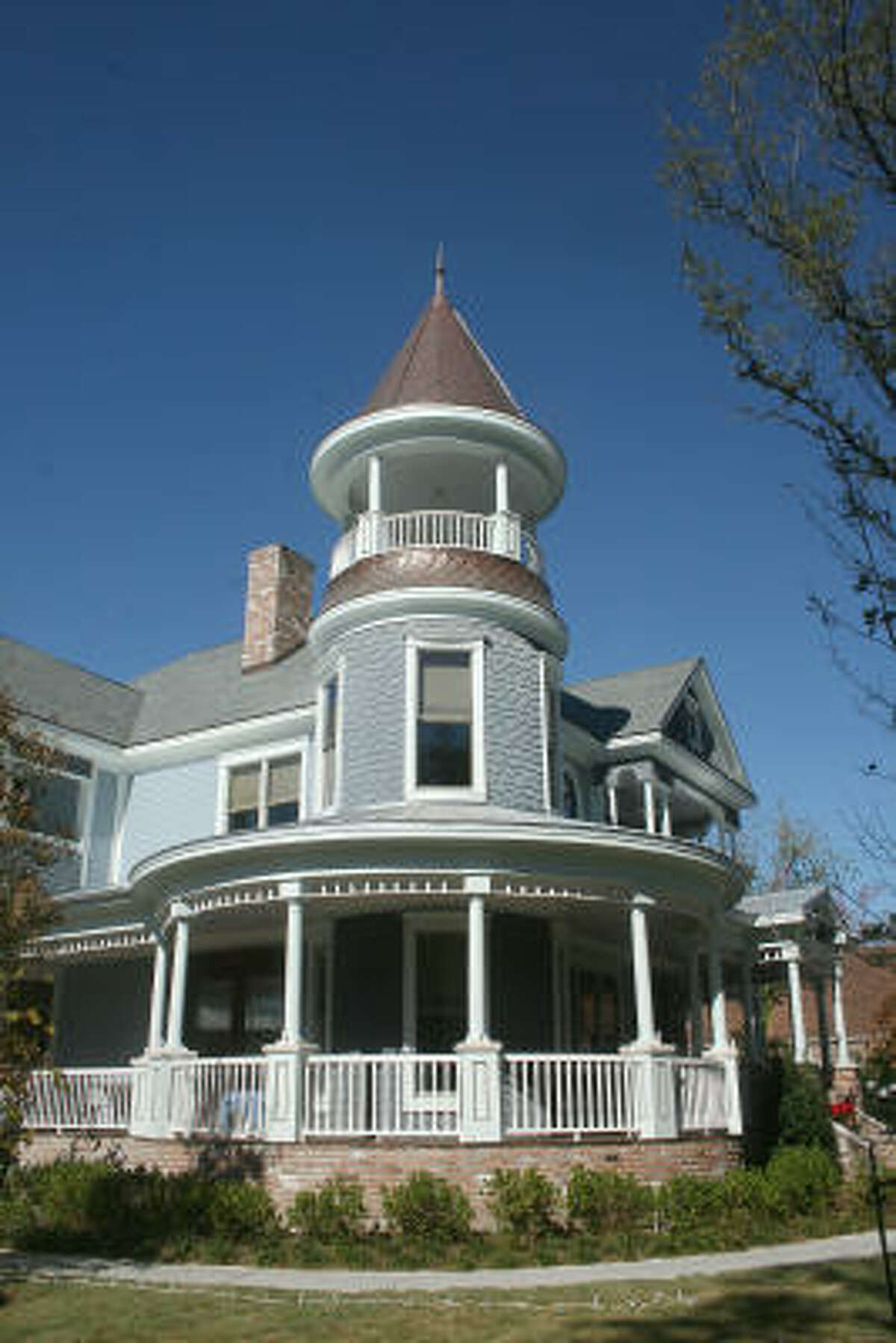 The replica Victorian house at 1135 Heights Boulevard was part of the Heights holiday home tour in 2008.