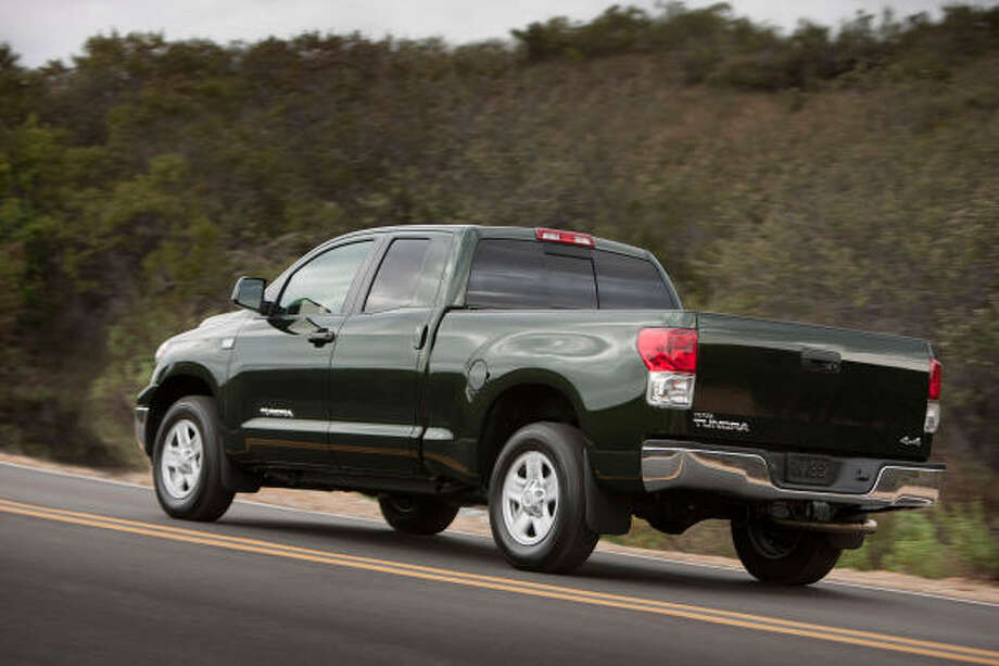 Police say the Toyota Tundra was a favorite target of parts thieves in Houston Photo: David Dewhurst