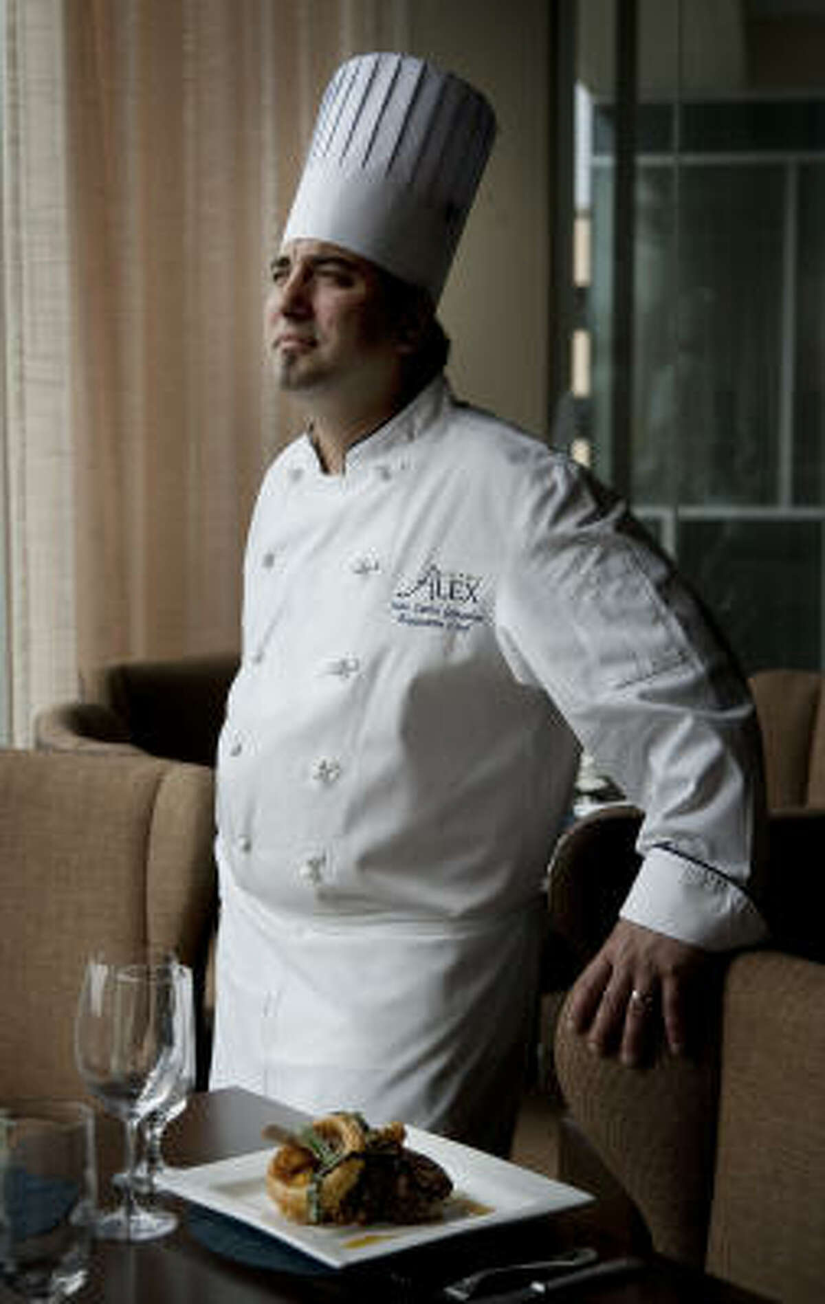 Executive Chef Juan Carlos Gonzalez gives Bistro Alex a voluptuous, old-school New Orleans feel, using plenty of butter and sauces on his dishes.