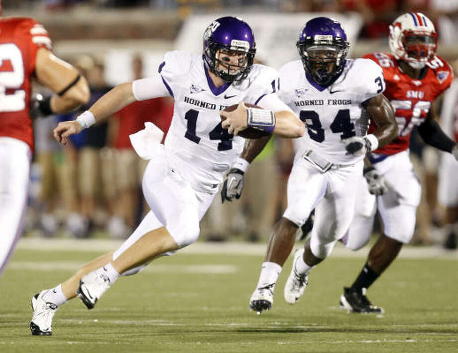Katy-ex Andy Dalton has led TCU to a No. 3 ranking and into contention for a BCS berth. Photo: VERNON BRYANT, The Dallas Morning News