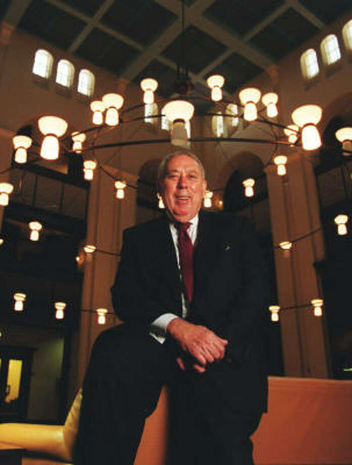 The Baker Institute's George Abbey says it would be a mistake to retire the space shuttle. Photo: John Everett, Chronicle