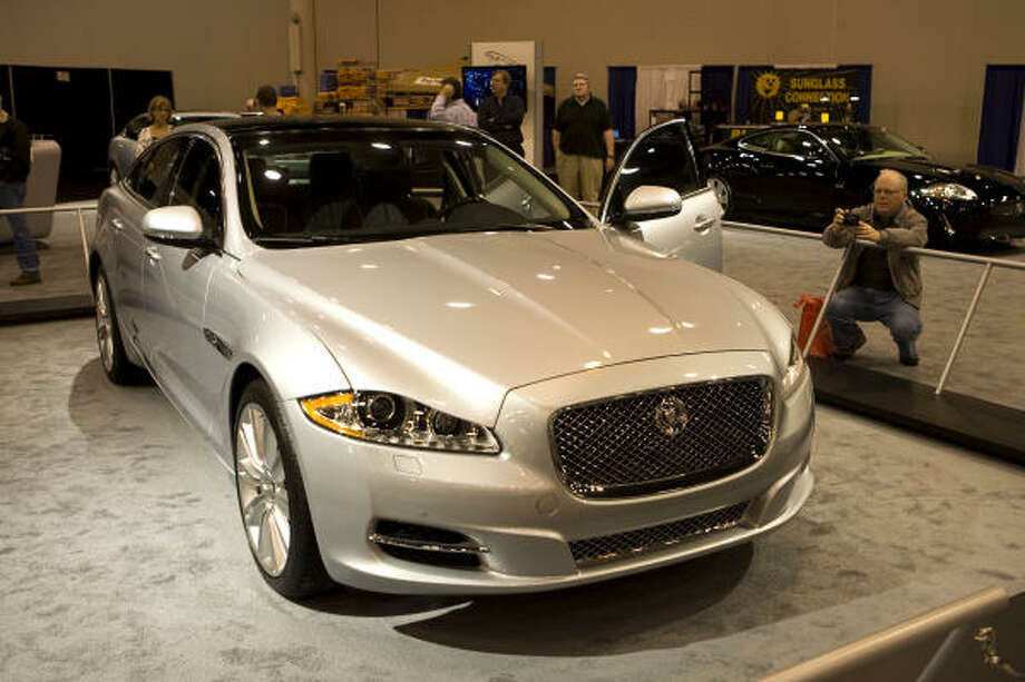 The Jaguar XJ is among the luxury vehicles at the Houston Auto Show. Photo: Brett Coomer :, Chronicle