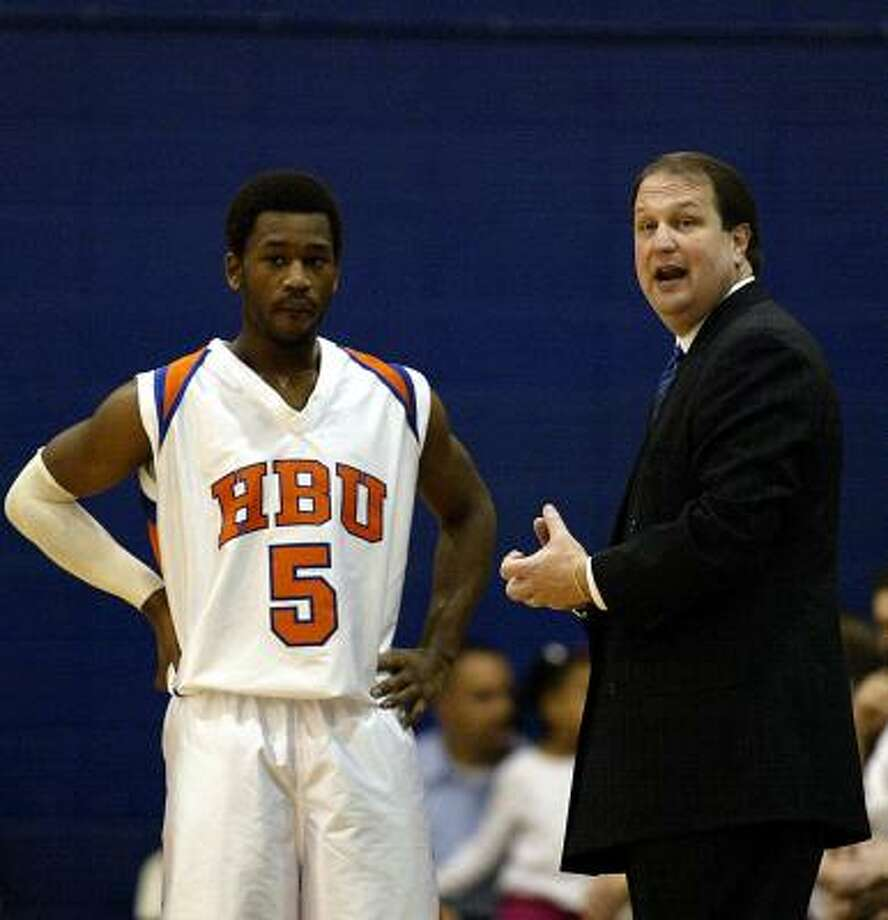 Ron Cottrell is 379-208 in 18 seasons as men's basketball coach at Houston Baptist. Photo: James Nielsen, Chronicle