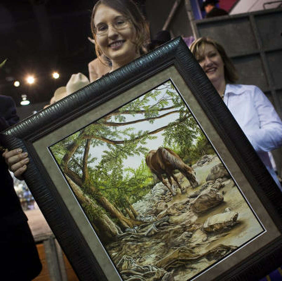 Christy Beltz, 15, will get $30,000 from the sale of A Piece of Heaven. Photo: Eric Kayne, Chronicle