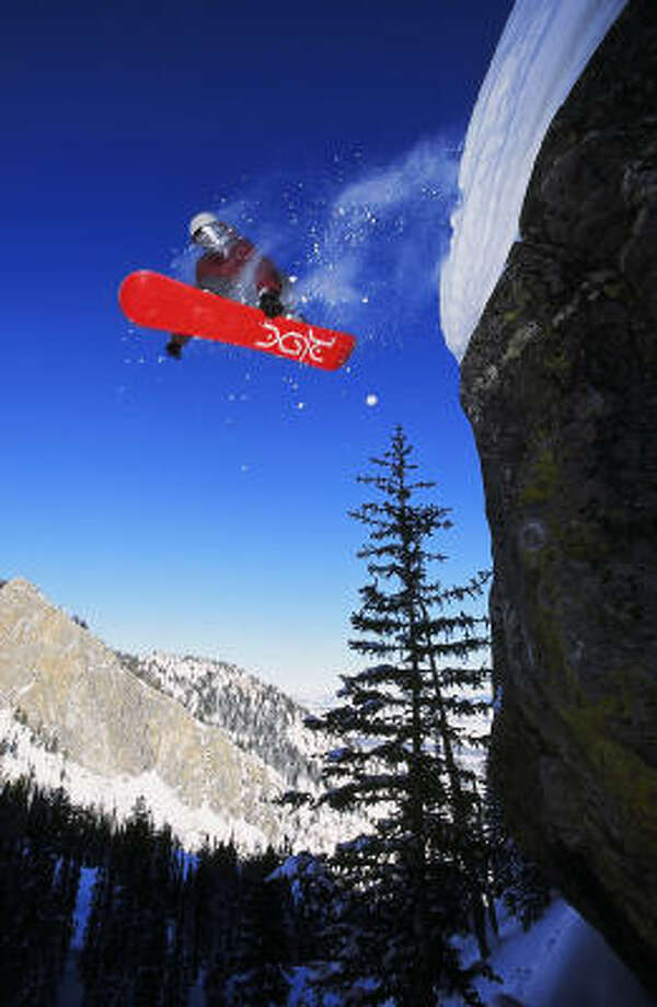 Snowboarding is popular at Jackson Hole Mountain Resort. Photo: Greg Roebuck, Jackson Hole Mountain Resort