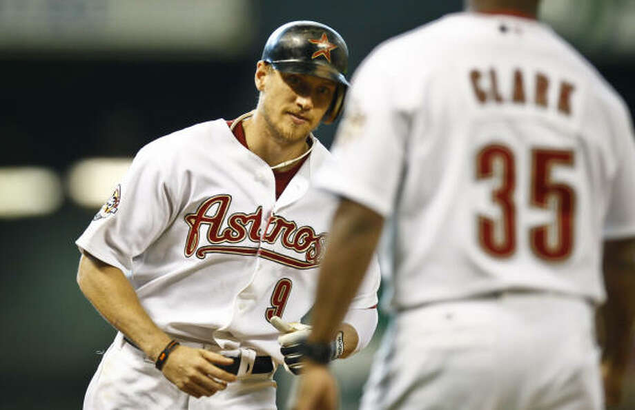 Hunter Pence and the Astros will face the Florida Marlins in their first home series of the 2011 season. Photo: Michael Paulsen, Chronicle