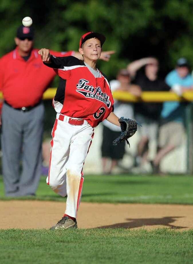 Philip Vlandis throws the ball during Wednesday's Fairfield American Little League Section 1 Championship game against East Haven in Orange on July 27, 3011. Photo: Lindsay Niegelberg / Connecticut Post
